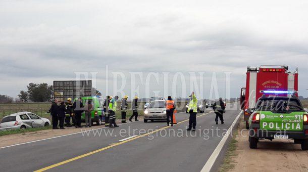 El accidente fue el Km 248 de ruta nacional 5