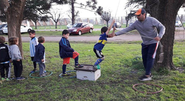 Los niños disfrutaron de su dia con juegos en San Martin