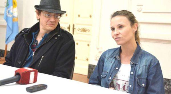 Mirabelli y Garcia durante el dialogo con la prensa local