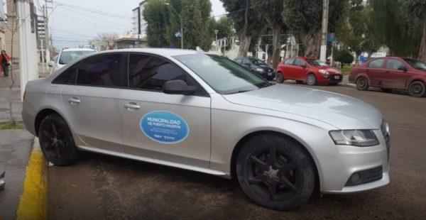 Vehiculo Audi A4 que le fue secuestrado a Ciarlo y ahora esta en manos del muncipio de Madryn