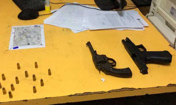 Armas y municiones secuestradas