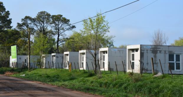 Casas que se estan instalando en Barrio Los Aromos