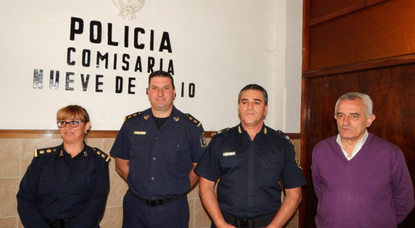 Comisario Figueroa, Comisario Vazquez, Comisario Inspector Gil y Jorge Zotti, de la Sub Secretaria de Seguridad