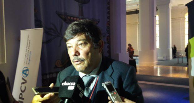 Dardo Chiesa en dialogo con periodistas especializados durante el Congreso Jonagro