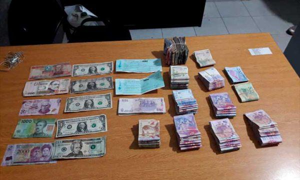 Dinero secuestrado a los delincuentes