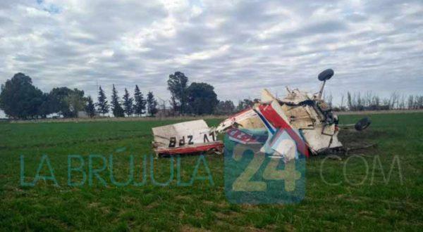 El avion que se cayo y piloteaba Heguy