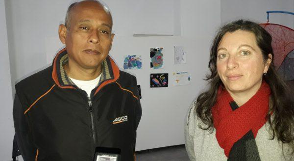 Ing Waler Tejada y Profesora Mariana Pieroni