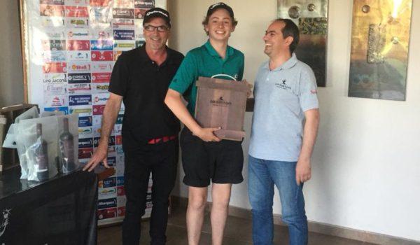 Pedro Ferrere feliz, gano su categoria