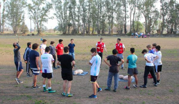 Trabajo de RCP en Club Atletico Quiroga