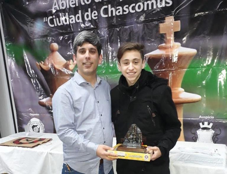 Ajedrez en Chascomus: Valentín Heredia campeón en su categoría