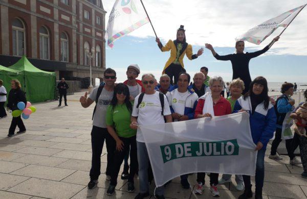 Adultos Mayores que participaron en Juegos Bonaerenses en Mar Del Plata