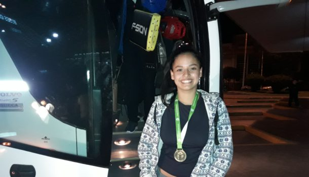 Camila Almonacid logro medalla de oro en Taekwondo