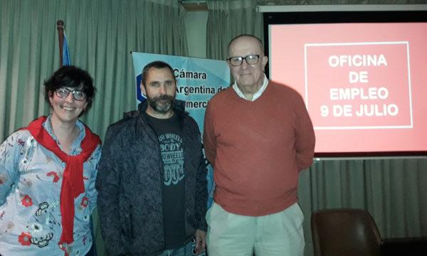 Cecilia Fusari, Fernando Bono y Alberto Lopez Irabedra