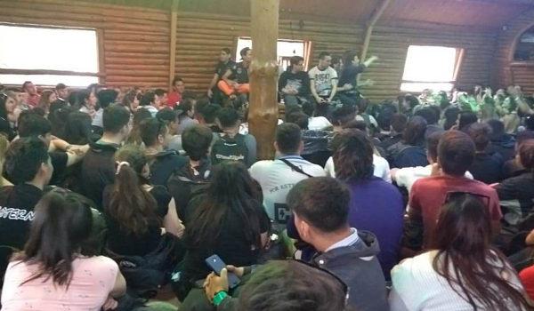 Compartiendo todos juntos en Bariloche