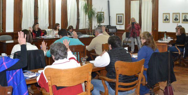 Concejales que dieron tratamiento a los proyectos