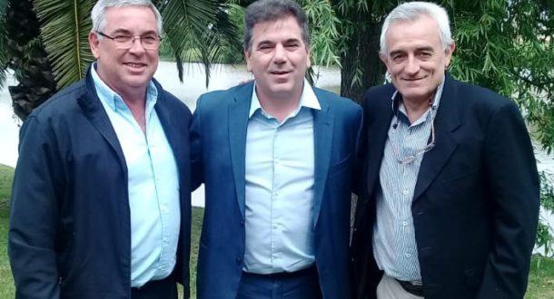 Della Roca y Zotti junto al Ministro Ritondo en Junin