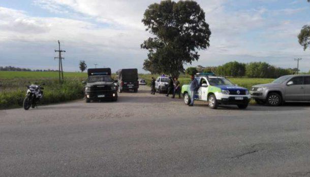 Despliegue policial en cercanias donde fue encontrado el cuerpo – foto el eco de tandil