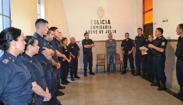 Efectivos de policia 9 de Julio fueron reconocidos por la Jefatura Departamental
