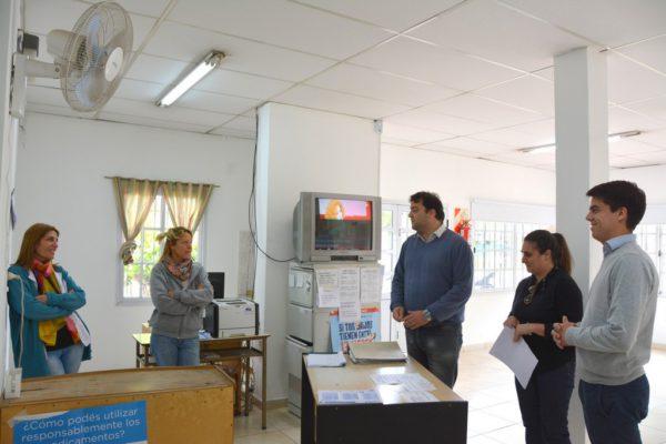 El lugar fue visitado por el Intendente Barroso, Paolo y Barbieri y la Dra Ferrari