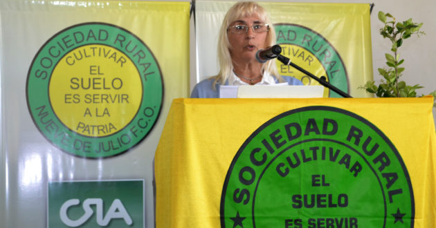 Graciela Vadillo durante su discurso