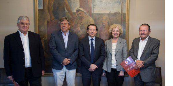 Integrantes de CAFMA con el Minsitro de Produccion Dante Sica