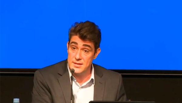 Javier Iguacel, este lunes en conferencia de prensa