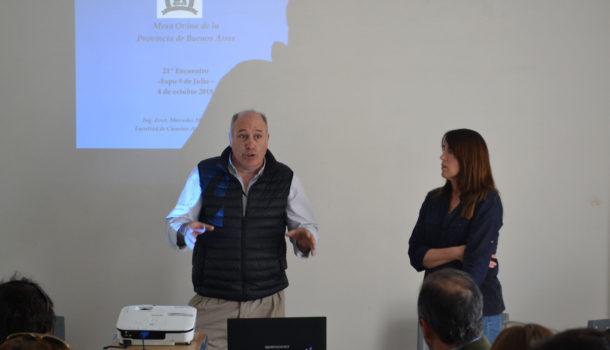 Jorge Masi Elizalde y Mercedes Mc Cormick en la Mesa Ovina