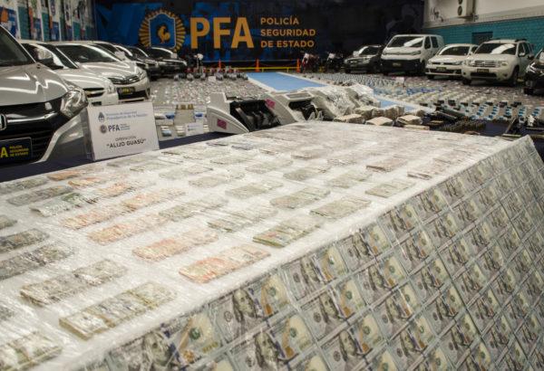 Lo incautado producto del trabajo de PFA y Gendarmeria