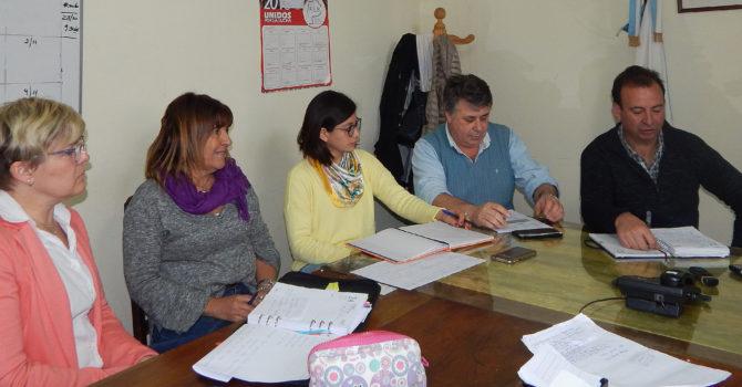 Lozano, Gargano, Tello, Farias y Asenjo en dialogo con la prensa