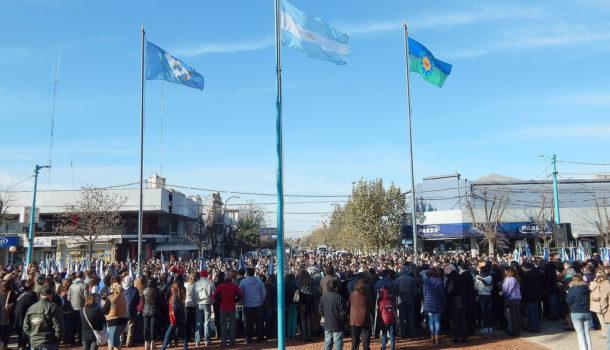Plaza Belgrano, centro de muchas convocatorias de los vecinos nuevejulienses