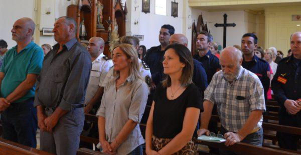 Autoridades municipales y Concejales en la misa