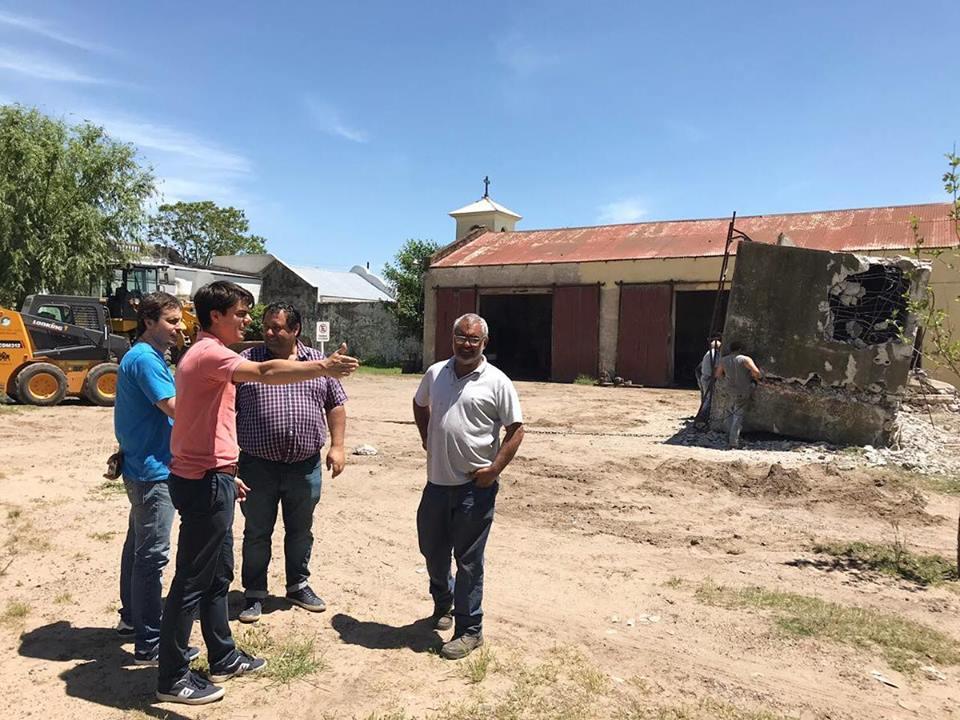 En Quiroga celebran que se haya sacado el tanque de agua del centro de la localidad