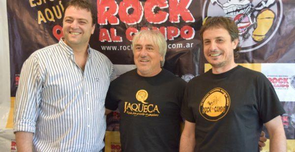 Barroso, Biaggion y Zabaleta presentaron la edicion de Rock al Campo 2018