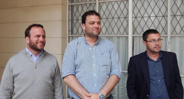 Barroso acompañado de Suarez y Vivani