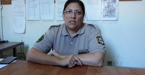 Comisario Analia Muñoz, titular del CPR 9 de Julio