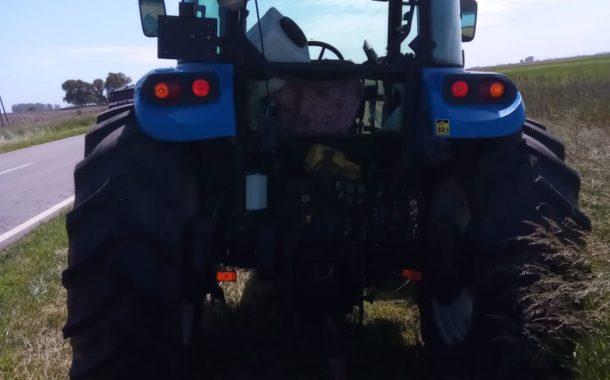 El tractor que se vio involucrado en el accidente