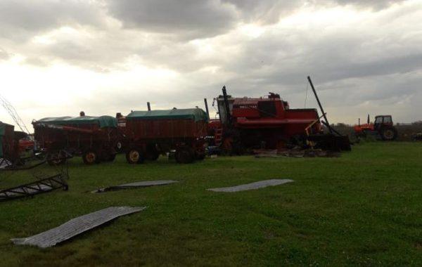 Equipos de cosecha fueron afectados por la furia de la tromenta