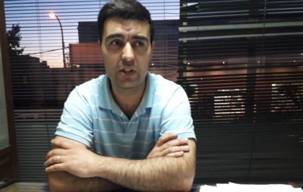 Leandro Fuentes del Departamento de Capacitación de Bomberos 9 de Julio