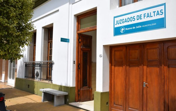 Los Juzgados de Faltas se encuentran en calle Irigoyen entre Tucuman y Cavallari