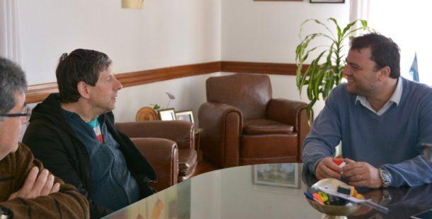 Mussanti y Barroso durante el encuentro