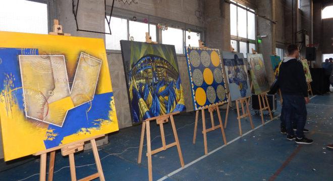 Obras de arte sobre Boca que se exponen en 9 de Julio