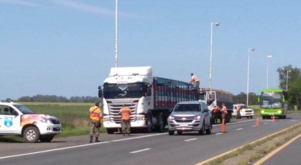 Operativo del CPR 9 de Julio en ruta nacional 5 y Puente 65