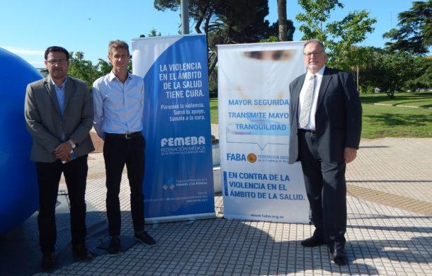Sayavedra, Benitez y Piccinini en Plaza Belgrano