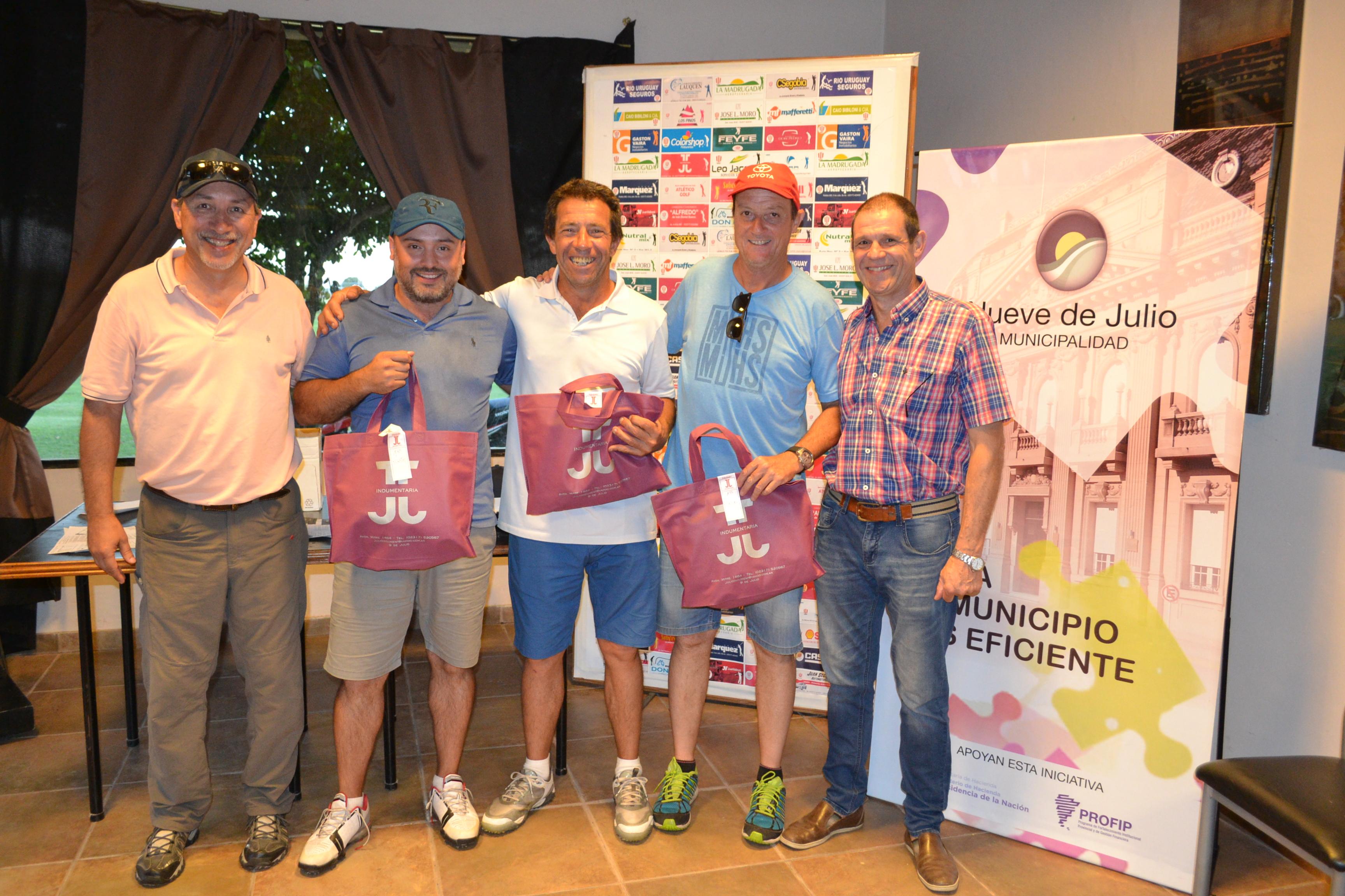 """Aramburu, Canoves y Sancholuz ganadores del Torneo """"155° Aniversario Ciudad 9 de Julio"""""""