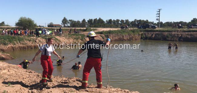 El intenso trabajo de los rescatistas de Bomberos Voluntarios en la cava