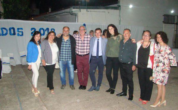 Inspectores y Directores de distintas escuelas que se llegaron a Patricios para el cierre lectivo 2018