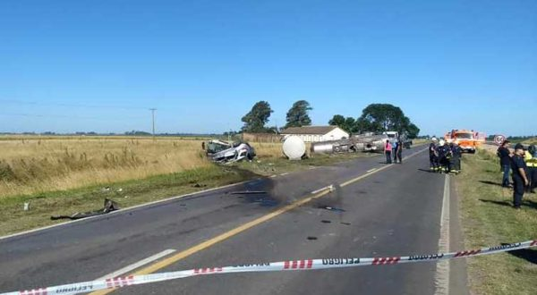 Lugar del lamentable accidente – foto Semanario Junin