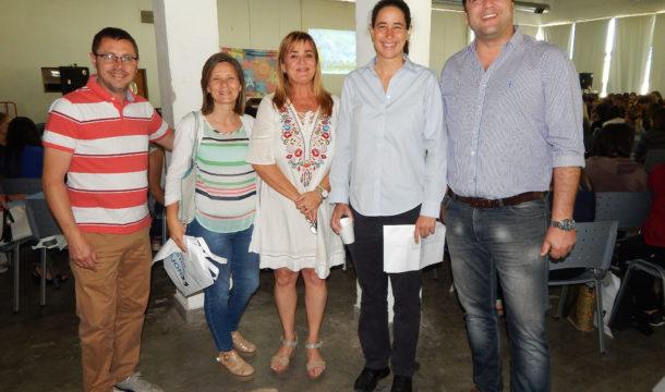 Rattazzi junto al Intendente Barroso, el diputado Vivani, la Concejal Gentile y Silvina Odello de la Direccion Municipal de Discapacidad