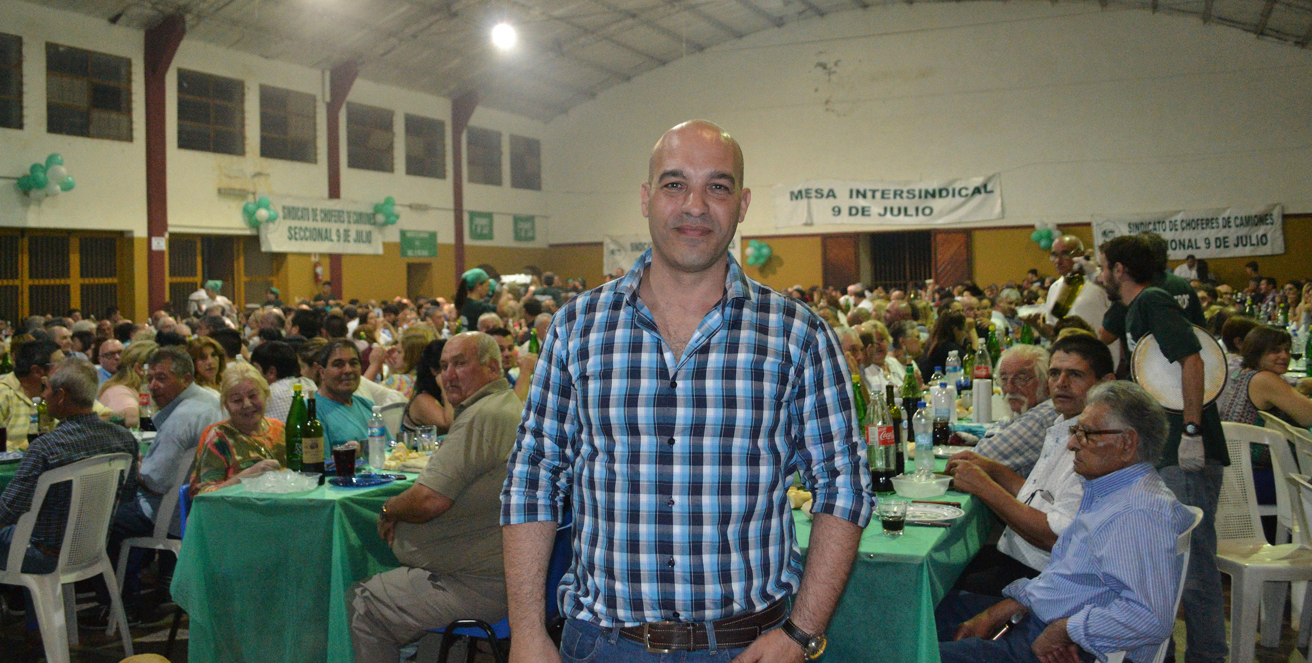 El Sindicato de Camioneros de 9 de Julio trazo un balance del año y compartió con afiliados una cena