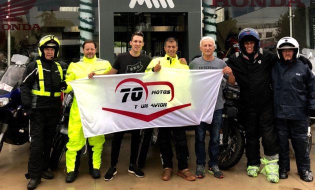 Antes de partir, los Riders desde la Concesionaria Maldonado Motos